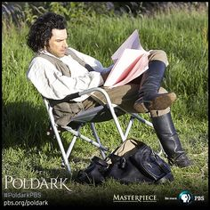 #PoldarkPBS MASTERPIECE #AidanTurner takes a break #onset. #BTS