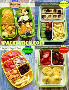 Gluten-free toddler preschool healthy lunch ideas