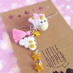 Unicorn Cloud polymer clay bracelet by LittleDipperShop on Etsy Clay Keychain, Polymer Clay Bracelet, Polymer Clay Charms, Polymer Clay Projects, Diy Clay, Clay Crafts, Polymer Clay Kawaii, Cute Clay, Polymer Clay Miniatures