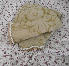 A pair of simple faux gold silk damask Tudor by Hathawaysofhaworth