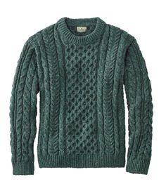 Men's Heritage Sweater, Irish Fisherman's Crewneck at L. Best Mens Sweaters, Cable Sweater, Men Sweater, England Winter, Ll Bean, Cashmere Sweaters, Wool Blend, Irish, Crew Neck