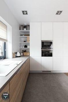 Cucina bianca top scuro piastrelle   Bagno idee   Pinterest ...