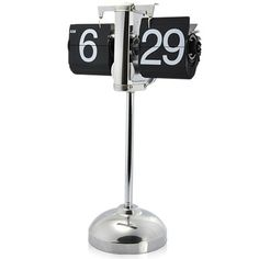 Flip Down Minute and Hour Display,Stretchable rod for standing in place Swinging steel legs with rubber feet,auto pagination