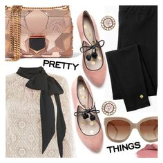 """""""Blush & Black"""" by stacey-lynne ❤ liked on Polyvore featuring Victor Xenia, Kate Spade, Jimmy Choo, Selim Mouzannar, STELLA McCARTNEY, Boden and Urban Decay"""