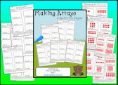 Making Arrays Worksheet Set product from WorkaholicNBCT on TeachersNotebook.com