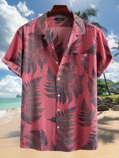 Camisa Floral, Loose Shirts, Mens Printed Shirts, Men Shirts, Beach Shirts, Cotton Shorts, Printed Cotton, Shirt Style, Casual Shirts