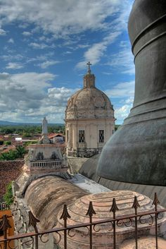 Bell Tower view in Granada, Nicaragua (by Mister Kitty). http://www.travelbrochures.org/189/central-america-and-the-caribbean/rejuvenate-in-nicaragua