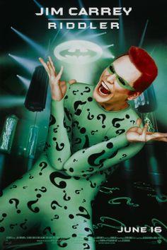 Batman Forever - The Riddler. don't think they could have had a better Riddler. Not a huge Jim Carrey fan but he killed it as The Riddler! Batman Meme, Batman Film, Im Batman, Batman Robin, Gotham Batman, The Riddler, Batman Riddler, Marvel Dc, Marvel Comics