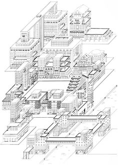 From the book Memphis: Research, Experiences, Failures and Successes of New Design by Barbara Radice Revit Architecture, Architecture Drawings, Nathalie Du Pasquier, Invisible Cities, Project Presentation, Construction Drawings, Memphis Design, Building Art, Urban Planning
