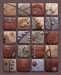 Ceramic tiles by Chris Gryder #art #mytumblr (mi ricorda tanto Federico Bonaldi, artista della ceramica di Bassano del Grappa)