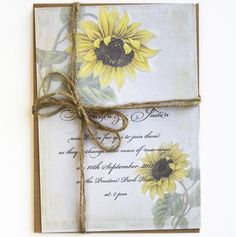 !--003--Rustic Sunflower wedding invitations (really like this too, especially as the sunflower is one of my favourite types of flower, but again not going to fit the theme)