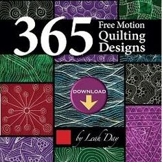 Find hundreds of machine quilting designs, stitched out in large, detailed photos within the book 365 Free Motion Quilting Designs by Leah Day.