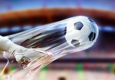 The kick. Soccer Photoshop Illustration - Photoshop - Creattica