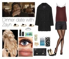 """Dinner date with Zayn"" by laura-gh-5 ❤ liked on Polyvore featuring CENA, Hanes, Unique, River Island, Christian Louboutin, Topshop, Peter Som, Rimmel, H&M and OneDirection"