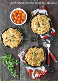 Creamy Roasted Green Chile Chicken Mac-and-Cheese