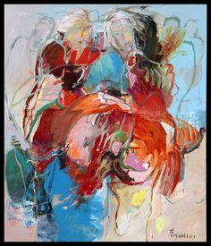 Bernadette Leijdekkers Friends Neo Expressionism, Human Figures, Abstract Paintings, Figure Painting, Figurative Art, Art Work, Inspire, Artists, Illustration