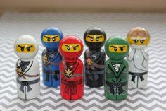 Lego Ninjago Inspired Peg People by FiveLittleMonkeys379 on Etsy, $42.00