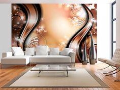 Gold Fantasy x Wallpaper East Urban Home 3d Wallpaper Living Room, 3d Wallpaper For Walls, Red Wallpaper, Modern Wallpaper, Large Wall Murals, 3d Wall Murals, Ceiling Design, Wall Design, Diy Wall Painting