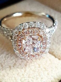 halo diamond wedding engagement rings to say i do #fineweddingrings