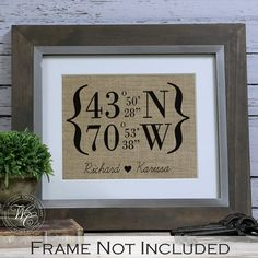 Latitude+Longitude+Burlap+Print+%7C+Perfect+Gift+for+Houswarming%2C+Graduation+Gift+or+Going+Away+Present+%7C+Personalized+Gifts+%7C+GPS+coordinates