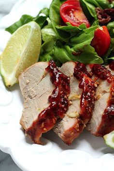 Sunday Suppers: Sweet and Spicy Sriracha Pork Tenderloin | Baker by NatureBaker by Nature