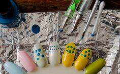 Wat je kunt gebruiken om stippen te zetten op je nagels. - Nynkek Nail Art Diy, Diy Nails, Om