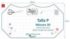Mascara de tecido 3D: Moldes e medidas em todos os tamanhos para imprimir grátis - Como Fazer Sewing Patterns Free, Free Pattern, Diy Kids Furniture, Bible Quotes, Diy For Kids, Bullet Journal, Crafty, Face, Sites