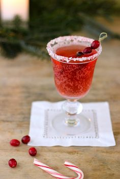 Candy Cane Cranberry Cocktail