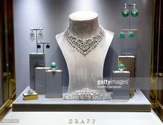 News Photo : Jewelry by Graff Diamonds is on display during...