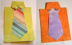 tarjeta del día del padre, en papel , cartulina y botones
