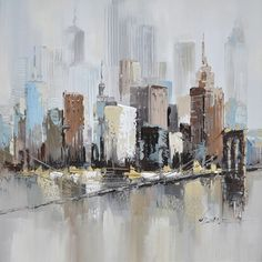 Veronneau.com - Hand made painting city 39,4x39,4'', L0292, $189.89 #OilPaintingCity