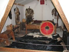 inside a celtic tent Viking Tent, Viking Camp, Camping Life, Family Camping, Vikings, Tent Camping Beds, Light Flashlight, Iron Age, Fantasy Inspiration