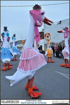 VILLARROBLEDO = DESFILE REGIONAL DE COMPARSAS CARNAVAL 2013 | Flickr - Photo Sharing! Bird Costume, Bfg, Animal Costumes, Walkabout, Fake Fur, Cool Costumes, Puppets, Wearable Art, Funny Animals