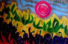 """Punto interior. Lugar sagrado que habita en nuestro interior. Nuestra mente está acostumbrada a percibir más lo que está """"fuera"""" de nuestro ser, que lo que está """"dentro de"""" nosotros mismos. En la búsqueda de nuestro Mándala personal, girando hacia nuestro centro, ese punto central es la llave que nos permite conocernos. (1985)  Medio día en Mintaka.  MG_"""