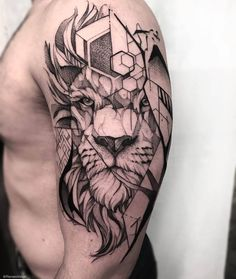 Image may contain: one or more people Lion Head Tattoos, Cool Forearm Tattoos, Leo Tattoos, Badass Tattoos, Feather Tattoos, Body Art Tattoos, Girl Tattoos, Geometric Sleeve Tattoo, Geometric Lion Tattoo