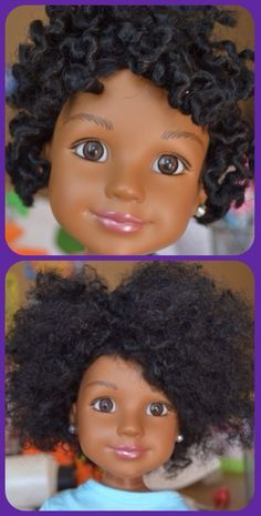 OMG! A DOLL FOR KIDS TO LEARN TWIST OUTS! I am so in love with this Natural Hair Journey and I love that more are getting on board.
