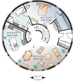 round house - Google Search~Like some of the layout in this, pretty good flow and function