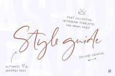 Style guide Font Collection by Ivan Rosenberg Web Design, Page Design, Email Design, Vector Format, Eps Vector, Brush Font, Design Studio, Portrait Photography, Wedding Photography