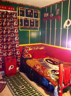 Redskins bedroom