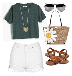 """""""Summer outfit for teen girls"""" by kasdon on Polyvore featuring Madewell, Topshop, Merona, Forever 21 and Kate Spade"""