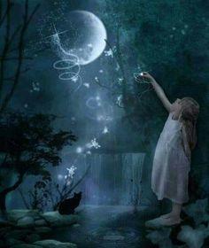 moon stars and fairy tales Moon Moon, Sun Moon Stars, Sun And Stars, Moon Art, Blue Moon, Good Night Moon, Moon Magic, Beautiful Moon, Beautiful Goddess