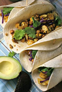 Taking Taco Tuesday to a new level with Curry Cauliflower and Chickpea Tacos ~vegan~
