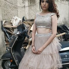 Image may contain: 1 person Indian Attire, Indian Outfits, Indian Wear, Cute Couple Poses, Tashan E Ishq, Designer Party Wear Dresses, Sleeves Designs For Dresses, Indian Tv Actress, Stylish Girls Photos