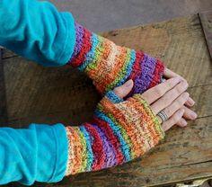 MADE to ORDER- any COLOR  Wristlets - Zig Zag Fingerless Gloves. $13.00, via Etsy.