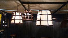Lámpara CANASTO  Con y sin pantalla interior Terminación óxido