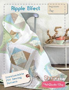 Ripple Effect Downloadable PDF Quilt Pattern<BR>Sharon Holland Designs
