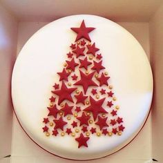 Picture result for simple Christmas cake decoration - result . - Picture result for simple christmas cake decoration – - Christmas Cake Designs, Christmas Cake Decorations, Christmas Cupcakes, Christmas Sweets, Christmas Cooking, Holiday Cakes, Simple Christmas, Beautiful Christmas, Christmas Time