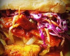 Chopped Pork Sandwich With a Smoky Poblano-Jalapeño Barbeque Sauce HispanicKitchen.com