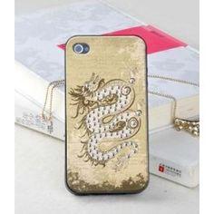 Diamond Oriental dragon bling iPhone 4, 4S protective case