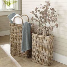 Shop Birch Lane for Baskets, Boxes & Organization traditional furniture & classic designs Tall Wicker Baskets, Tall Basket, Wicker Shelf, Wicker Mirror, Wicker Planter, Traditional Baskets, Traditional Furniture, Farmhouse Baskets, Newspaper Basket